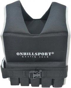 Жилет утяжелительный Onhillsport Runner 1-10 кг с грузами 10 шт х 1 кг Черный (ZT-0201)