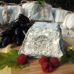 М'який сир з білою пліснявою СИРОМАН Чорна башта козиний 300 грамів