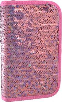 Пенал Yes Sequins твердый одинарный без клапана 1 отделение Розовый (532421)