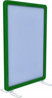 Рамка с карманом-протектором Европос А5 на подставках 2/BASE-90+PFPP-A5, Зеленый (P1005/07)