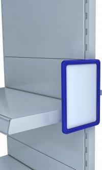 Рамка с карманом-протектором Европос А5 с магнитным держателем 0 градусов MAGNET-0+PFPP-А5, Синий (P1009/28)