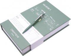 Набор Caran d'Ache Ручка шариковая 849 Синяя 0.7 мм Оливковый корпус + Блокнот в подарочном боксе (7630002334488)