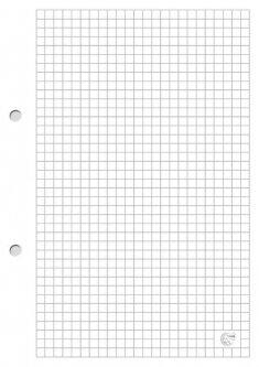Разделители для регистратора Interdruk A5 в клетку без полей 100 листов (186850)