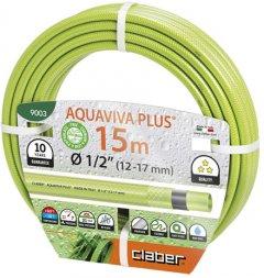 """Шланг поливочный Claber Aquaviva Plus 1/2"""" 15 м Салатовый (90030000)"""