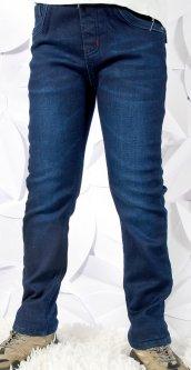 Джинси на флісі Grace 54225 140 см темно-сині