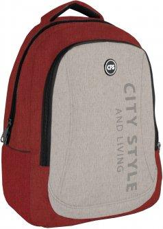 Рюкзак молодежный Сool For School 44x32x20 см 28 л унисекс Красно-серый (CF86588-06)