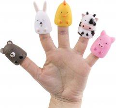 Набор игрушек на пальцы Baby Team Весёлая детвора (8700_ферма с медвежонком) (4824428087001)