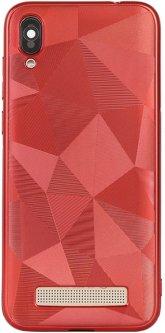 Панель Doogee 3D diamond TPU для Doogee X90 Red (109890)