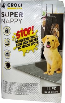Пеленки для собак с активированным углем Croci 84 х 57 см 14 шт. (8023222171718)