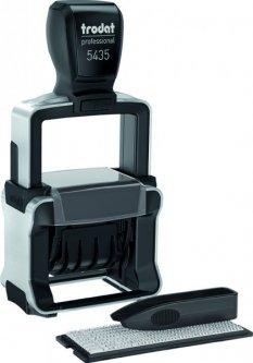 Датер самонаборный Trodat Professional 5435 P4.0 2 строки 41х24 мм Укр+Рус Черный корпус (5435/2/ укр P)