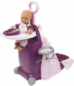 Игровой набор Smoby Toys Baby Nurse Прованс раскладной чемодан 3 в 1 с аксессуарами (220346) (3032162203460)