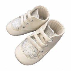 Пінетки Babymove 19 (12 см) Білий з Сріблом (2979360115465)