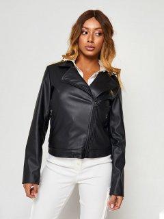 Куртка из искусственной кожи Katarina Ivanenko KIC00029 S Черная (LL2000000181318)