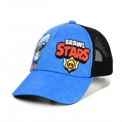 Бейсболка Brawl Stars (Бравл Старс) леон акула One Size Голубая с Черным