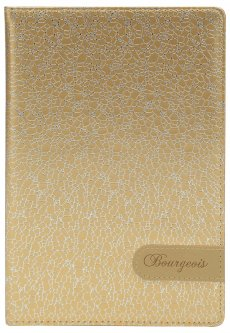 Блокнот Bourgeois N9009 70 г/м² Искусственная кожа А5 80 листов в клетку Золотой (6923749726663)