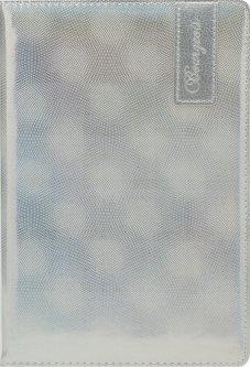 Блокнот Bourgeois N9026 70 г/м² Искусственная кожа А5 80 листов в клетку Серебро (6923749726830)