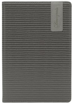 Блокнот Bourgeois N9034 70 г/м² Искусственная кожа А5 80 листов в клетку Черный (6923749726915)