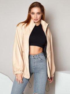 Куртка из искусственной кожи Jadone Fashion Бест XL Бежевая (ROZ6400031690)
