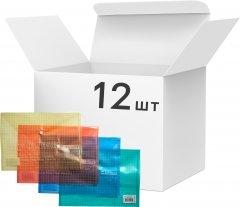 Набор папок 4Office на кнопке 12 шт А4 120 мкм Прозрачное ассорти (4-203/4820071010502)