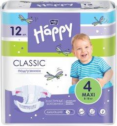 Подгузники детские Bella Baby Happy Classic Maxi 8-18 кг 12 шт (5900516603137)