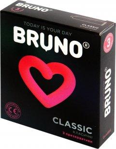 Презервативы Bruno Classic 1 упаковка 3 шт (4820234160037)