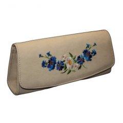 Сумочка-клатч с вышивкой 25 х 11 х 6 см Lucherino Украина 137-3 Бежевая