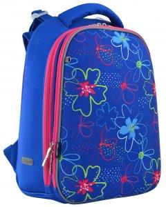 Рюкзак школьный каркасный 1 Вересня H-12 Vivid Flowers для девочек 1.1 кг 29х38х15 см 16.5 л (556038)
