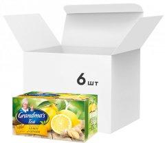 Упаковка фруктово-травяного чая Grandma's Tea лимон и имбирь 6 пачек по 20 шт (5900396020307)