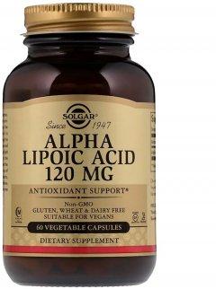 Натуральная добавка Solgar Alpha Lipoic Acid Альфа-липоевая кислота 120 мг 60 капсул (033984000575)