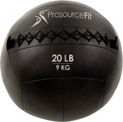 Мяч набивной для кроссфита ProSource Wall Ball Soft Medicine Ball - 9 кг Чёрный (ps-2213-mwb-20lb)
