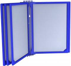 Настенная перекидная система Европос Infoframe A4 на 5 рамок Синяя (Р1017/28)
