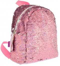 Рюкзак молодежный с пайетками Yes GS-02 Pink 0.2 кг 19х23х17 см 7 л (557651)