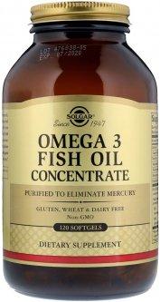 Жирные кислоты Solgar Концентрат рыбьего жира Омега-3 2000 мг 120 капсул (033984017887)