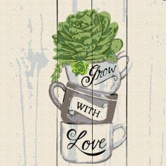 Картина по номерам Rosa Start Grow with Love 25х25 см (4823098523611)