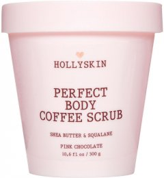 Скраб для идеально гладкой кожи Hollyskin Perfect Body Coffee Scrub Pink Chocolate с маслом ши и скваланом 300 г (4823109700444)