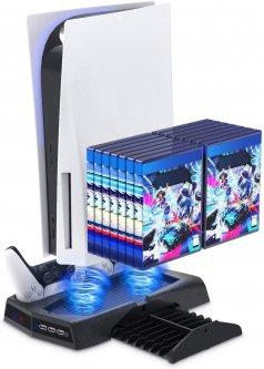 Вертикальна Док-станція KJH c LED Індикацією і Охолодженням для PlayStation 5 (PS5) DualSense (KJ-A3704)
