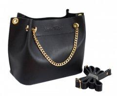 Женская мини сумка стильная фабричная брендовая Lucherino 524 экокожа черная высокого качества (LCH)