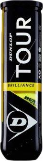 Мячи для большого тенниса Dunlop Tour Brilliance 4 шт Зеленые (601327)