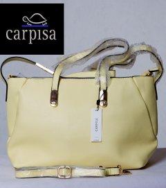 Элегантная женская сумка Carpisa 200112 34Х24Х14 см желтый лимон