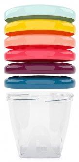 Набор контейнеров для еды Babybols Babymoov разноцветные 6х250 мл (A004309) (3661276147362)