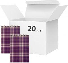 Набор блокнотов 20 шт Buromax Shotlandka А6 в клетку 48 листов Фиолетовый (BM.2480-07)