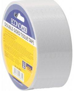 Клейкая двусторонняя лента Economix Tissue 48 мм x 10 м Прозрачная 6 шт (E40832)