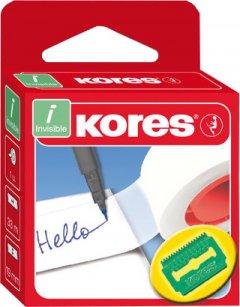Клейкая канцелярская лента Kores Invisible 19 мм x 33 м Прозрачная матовая 16 шт (K53319)