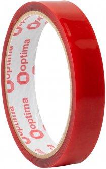 Клейкая двусторонняя лента Optima пеноакриловая (VHB) 18 мм x 2 м Красная (O45345)