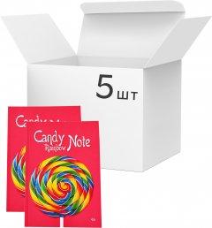 Упаковка блокнотов 4Profi Profiplan Candy Rainbow Note А5 без линовки 48 листов Red 5 шт (900152)