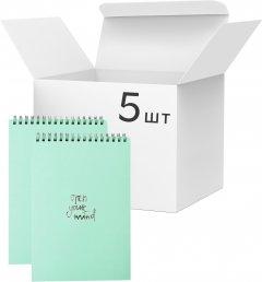 Упаковка блокнотов 4Profi Profiplan Title office A5 в клетку 64 листа Green 5 шт (903443)