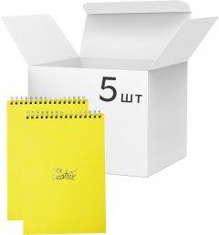 Упаковка блокнотов 4Profi Profiplan Title office A6 в клетку 64 листа Yellow 5 шт (903504)