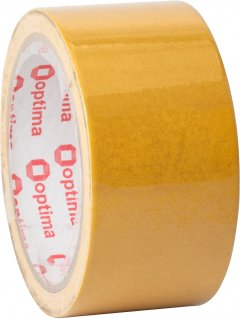 Клейкая двусторонняя лента Optima 48 мм x 10 м Желтая (O45352)
