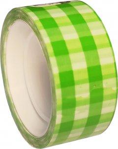 Клейкая канцелярская декоративная лента Optima Tartan 18 мм x 10 м Зеленая 8 шт (O45371)