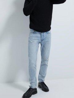 Джинси Zara 2553/351/407-AAVV 40 Білі із синім (DD3000002883042)